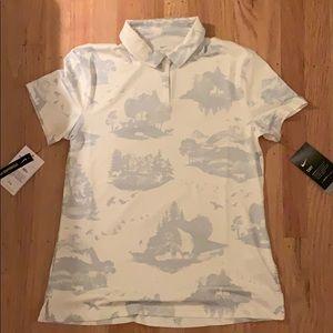 Grey and White Nike Golf Shirt